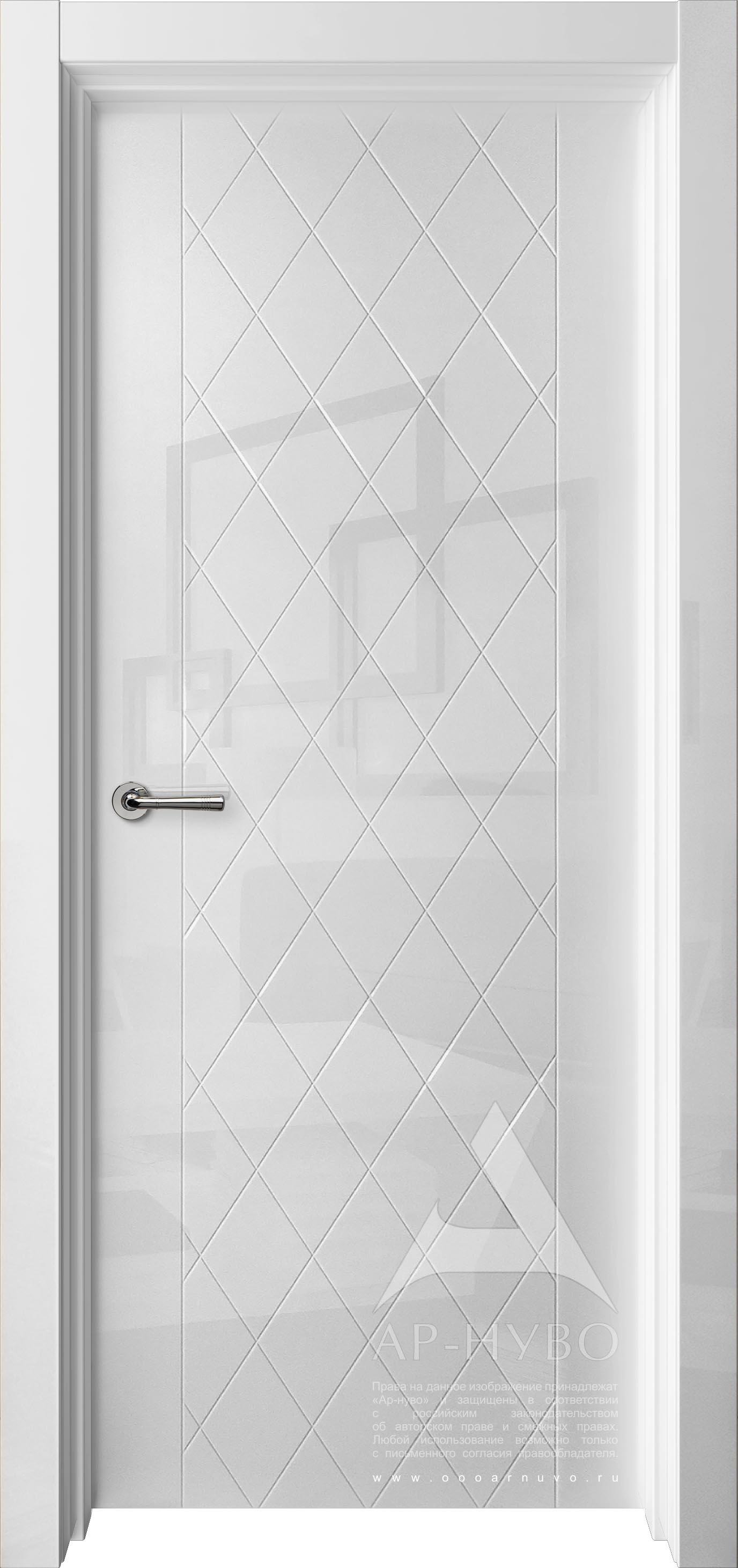 глянцевая дверь ромбы