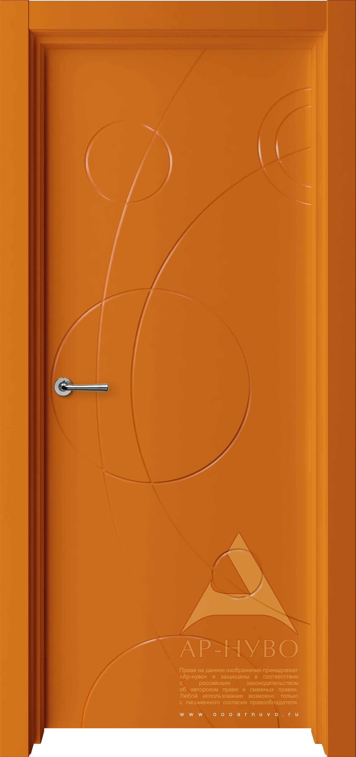 яркая цветная межкомнатная дверь