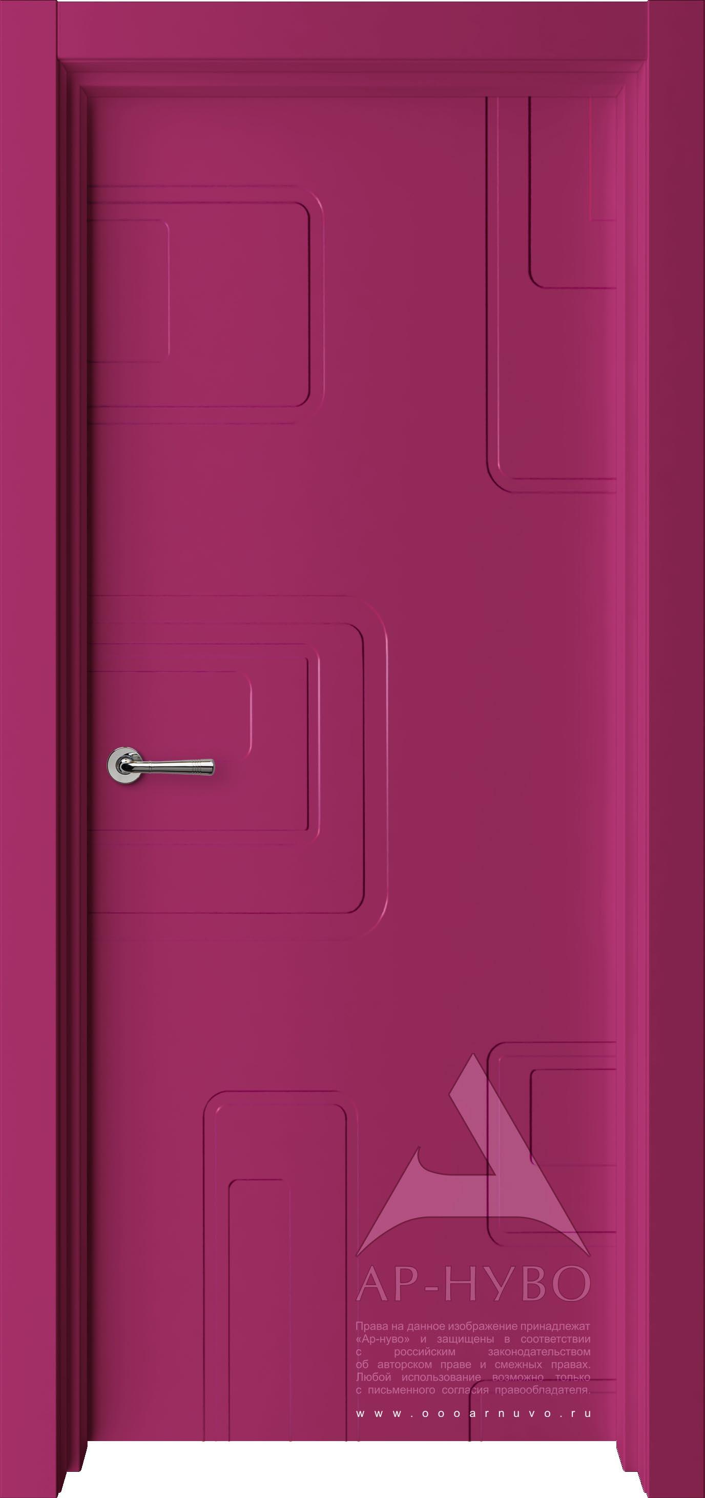 цветная дверь с узором