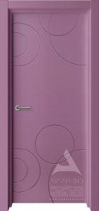 цветная дверь с рисунком
