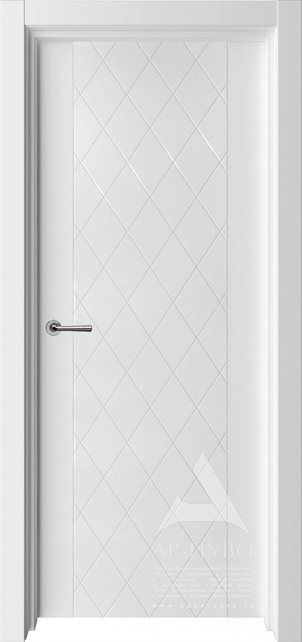 белая межкомнатная дверь ромбы и каретная стяжка