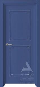 межкомнатная синяя дверь