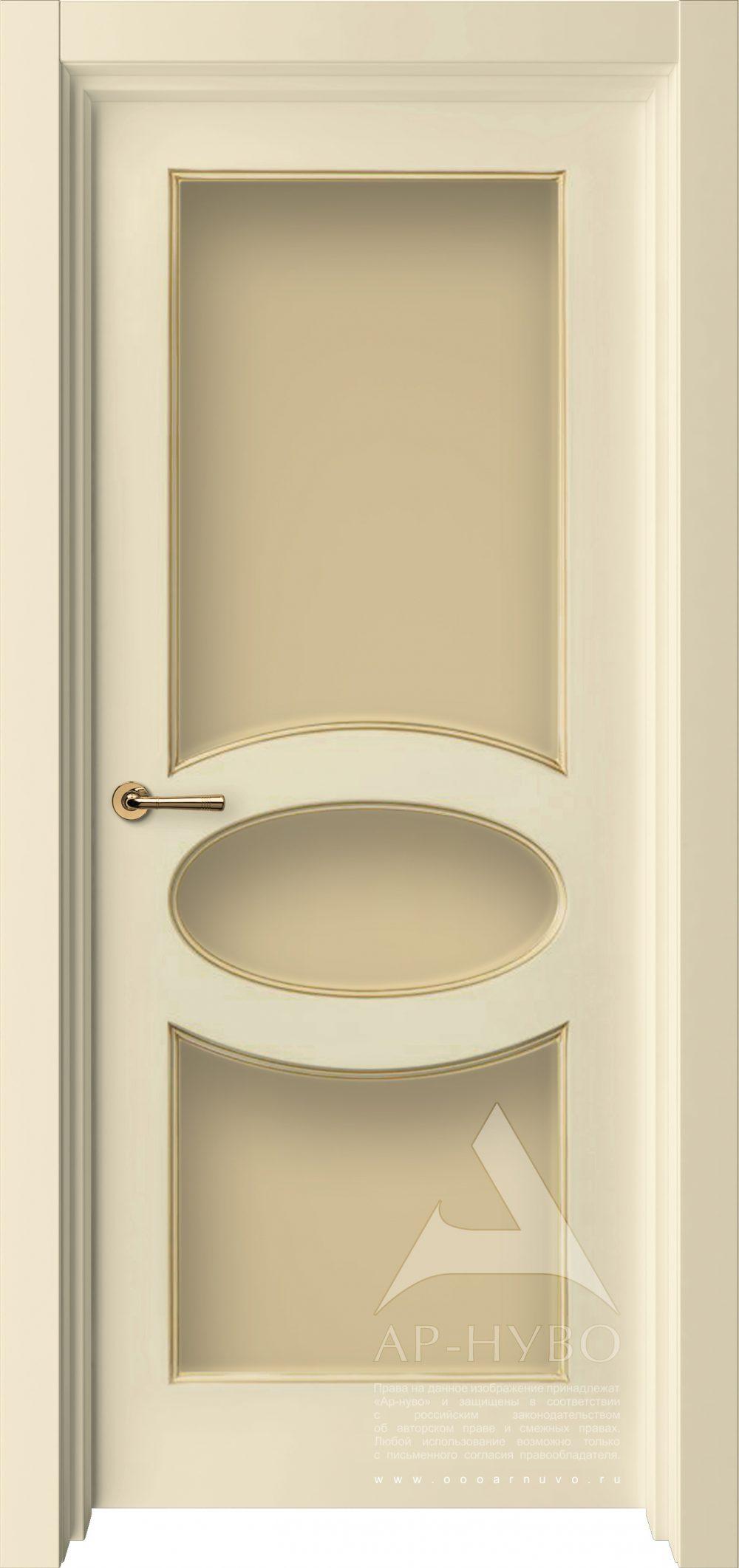 дверь Олимп слоновая кость со стеклом