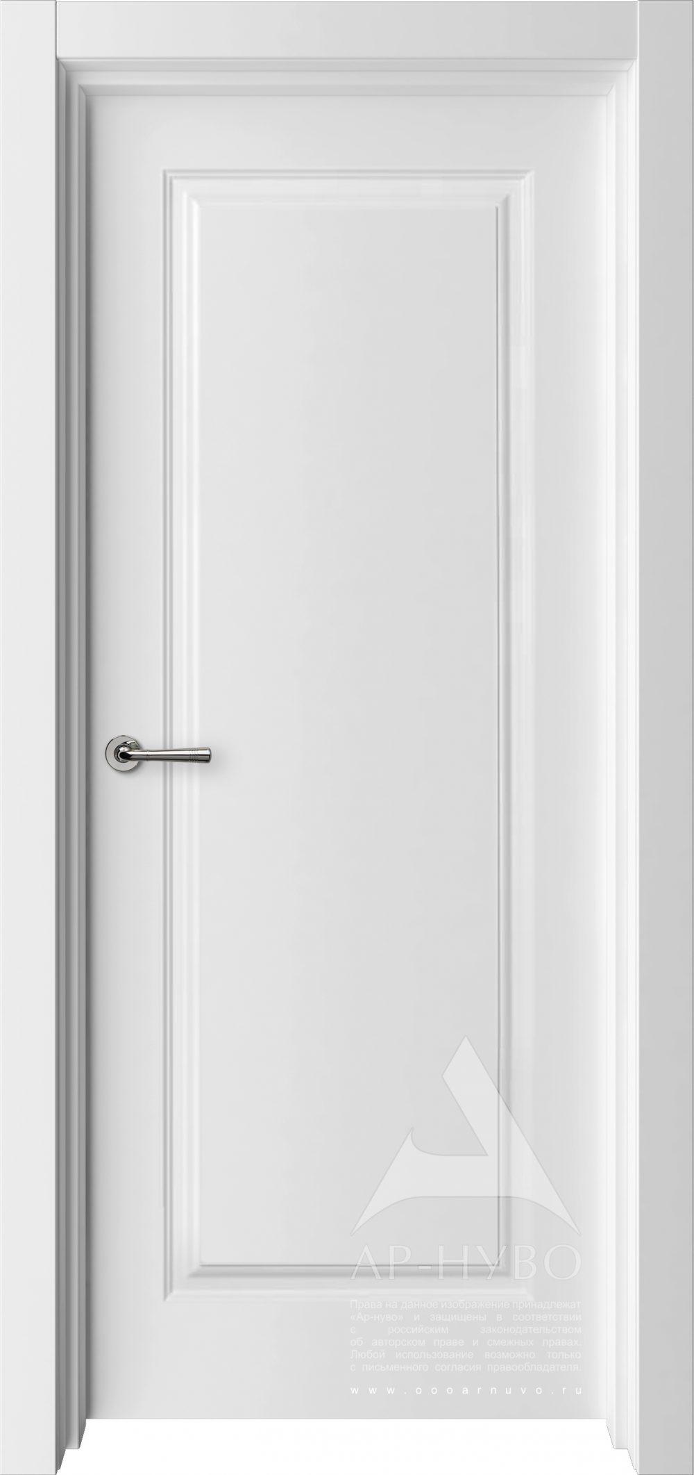 белая межкомнатная дверь глухая классика