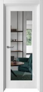 белая межкомнатная дверь с зеркалом на всю высоту