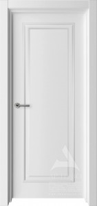 межкомнатная белая дверь глухая с багетом