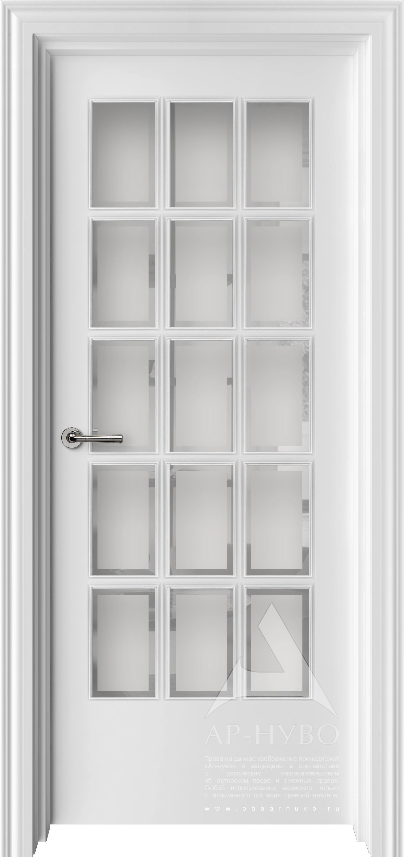 межкомнатная дверь с фацетом