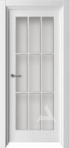 межкомнатная дверь белая с решеткой
