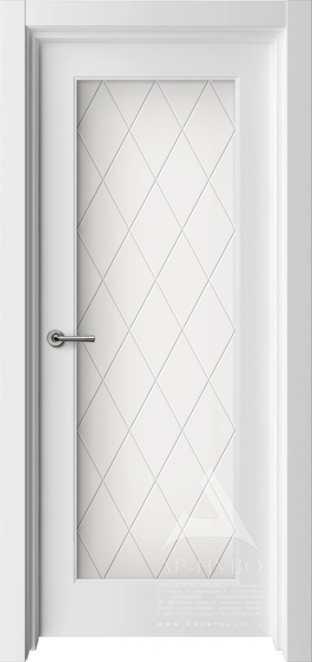 белая межкомнатная дверь со стеклом на всю высоту