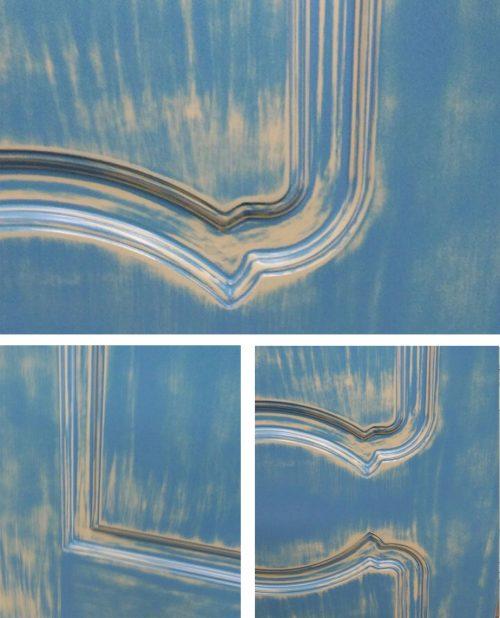 фрагмент двери эффект прованс
