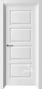 белая межкомнатная дверь модель квадро 4