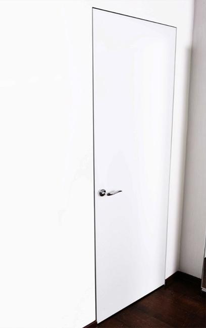 скрытая дверь стеклянная белая