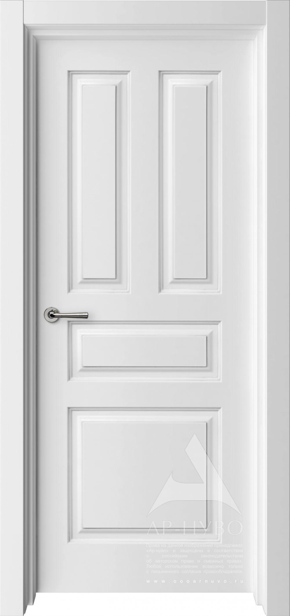белая межкомнатная дверь в американском стиле модель соната
