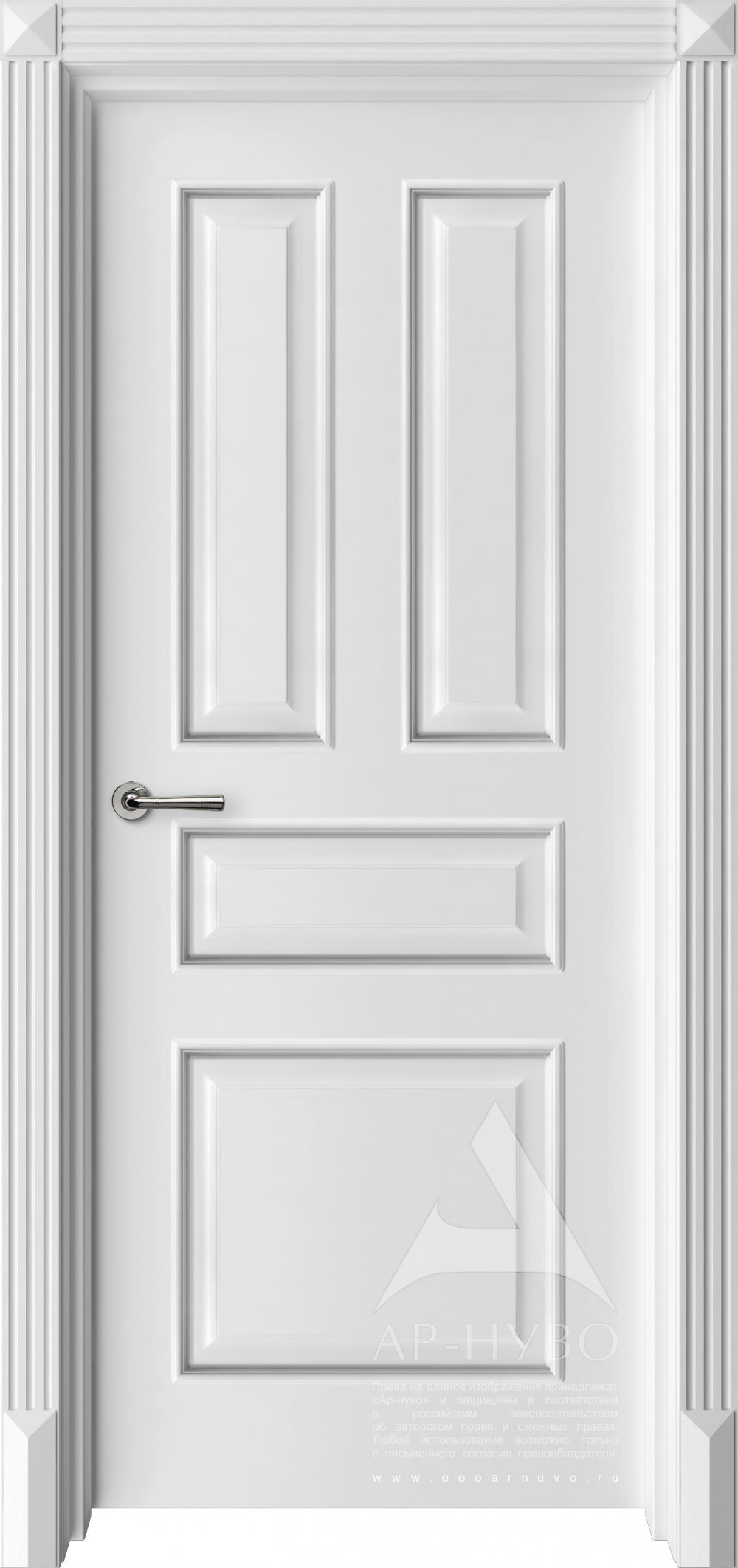 межкомнатная дверь соната с багетом