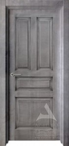 межкомнатная дверь в стиле лофт под бетон соната