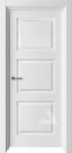 белая межкомнатная дверь модель трио 1