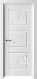 белая межкомнатная дверь модель трио F