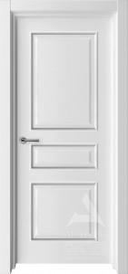 белая дверь с багетом модель турин