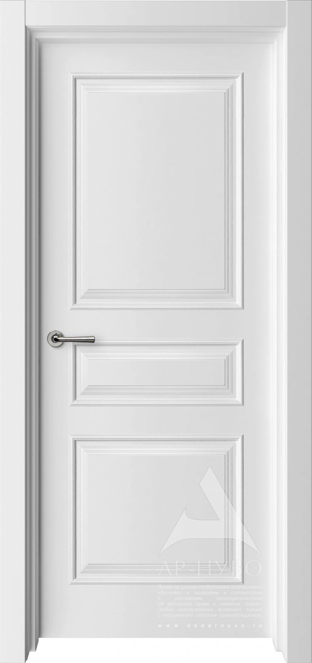 межкомнатная белая дверь турин с багетом