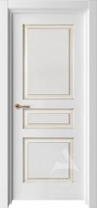 Белая дверь Турин с патиной
