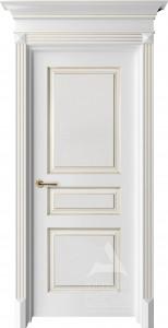 Белая классическая дверь с капителью люкс