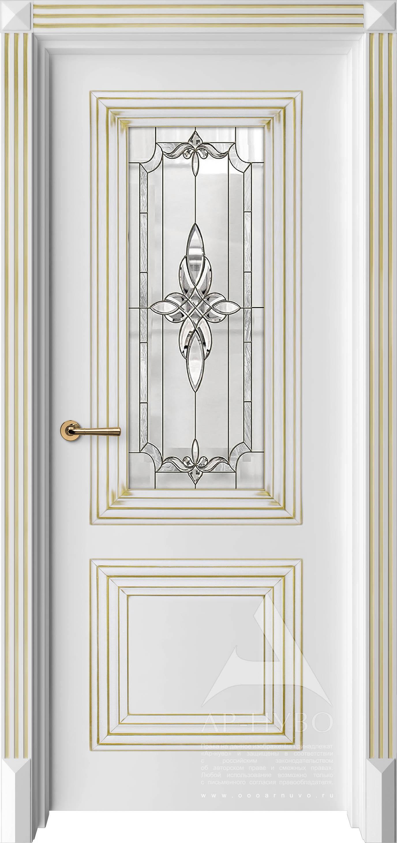 межкомнатная дверь с золотой патиной