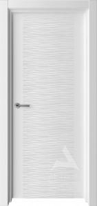 белая дверь волна для современного интерьера